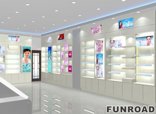 新设计led轻型化妆品展示柜陈列柜,价格实惠