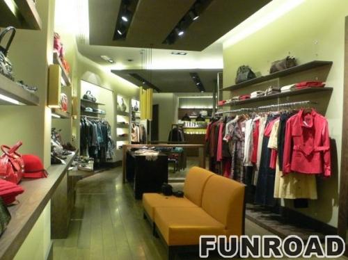 LED照明展示柜和服装连锁店展示柜台设计