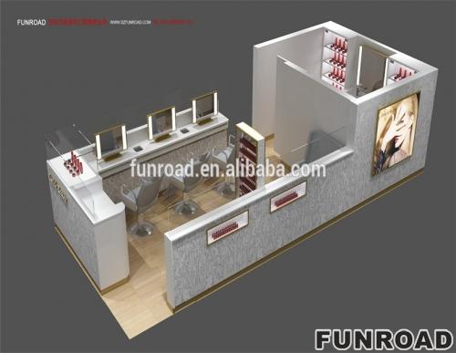 funroad设计化妆品展示柜效果图