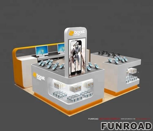 购物中心移动电话附属亭设计与零售商店陈列柜