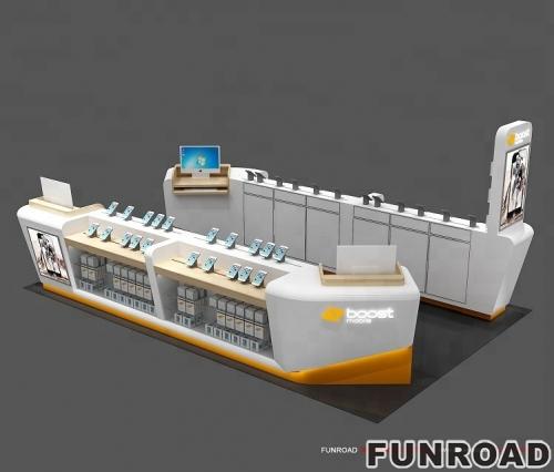2018年funroad新的零售3d手机亭设计