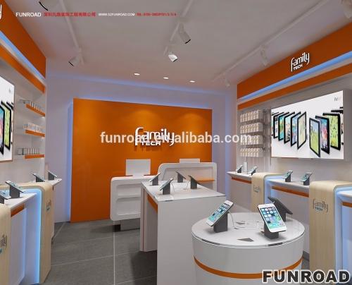 移动商店设计的手机商店固定装置,凡路展柜定制