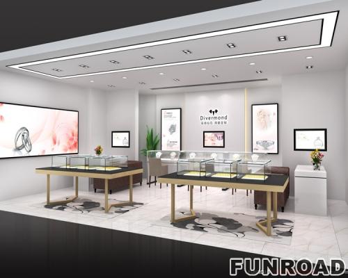 凡路设计师为珠宝商店,定制柜台设计