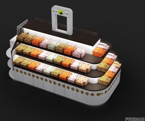 深圳展柜厂设计糖果展示架,3d效果图