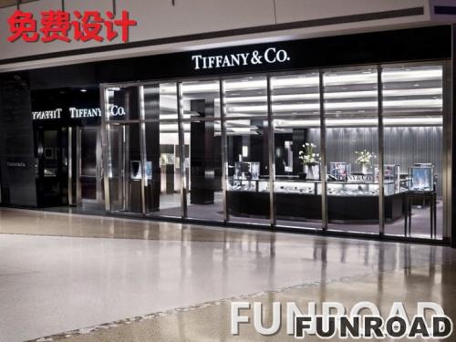深圳展柜厂制作透明玻璃烤漆珠宝展柜