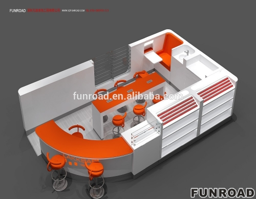 Funroad Laka Kiosk购物中心美甲修指甲展示柜