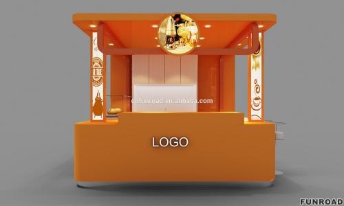 面包糖果展示亭展示柜设计制作