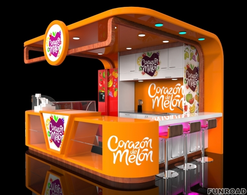 糖果屋展示柜定制设计效果图