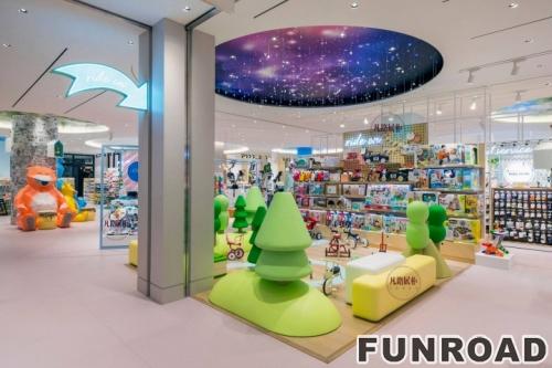 儿童用品商城展柜案例效果图