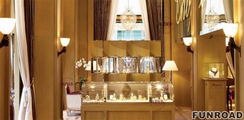 美国珠宝奢侈品店展示柜案例效果图