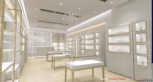 高端展示柜制造商,丰路珠宝店室内设计