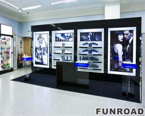设计新颖时尚的化妆品店家具香水展示架