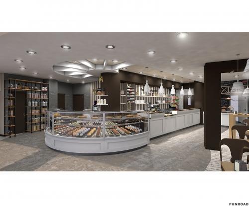 糖果蛋糕店展示柜整店设计装修效果图