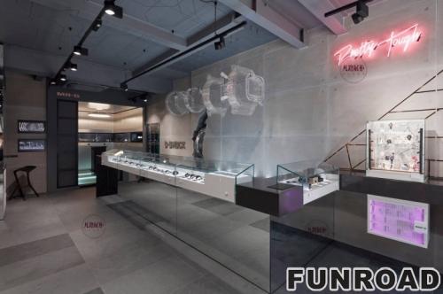 机械电子手表店展示柜案例效果图