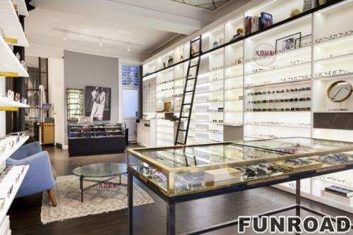 眼镜店不锈钢展示柜案例