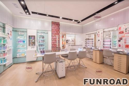 FRCS-194121粉色系化妆品展柜设计案例
