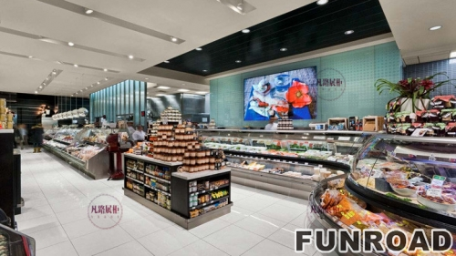 FRSM-94271A级防火材料购物商场展示柜案例