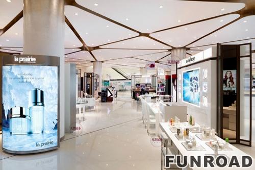 大型化妆品商场展柜制作案例