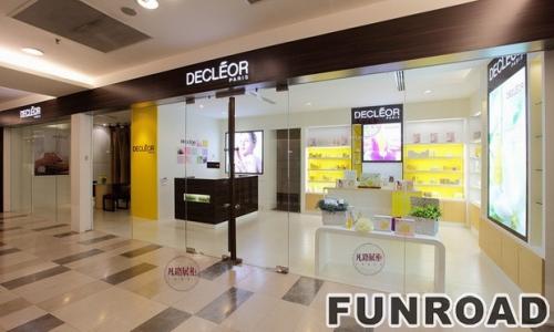 商场门店型化妆品展示柜制作案例