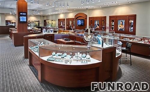 欧洲珠宝店展示柜台制作案例