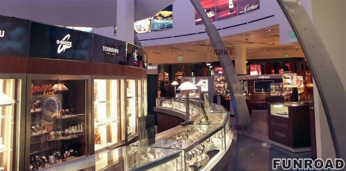 商场珠宝店展示柜台制作案例