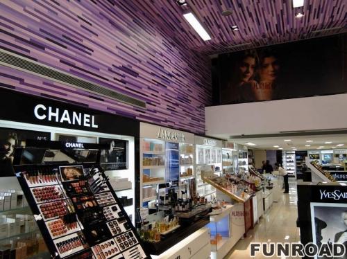 亚克力烤漆化妆品店展示柜案例