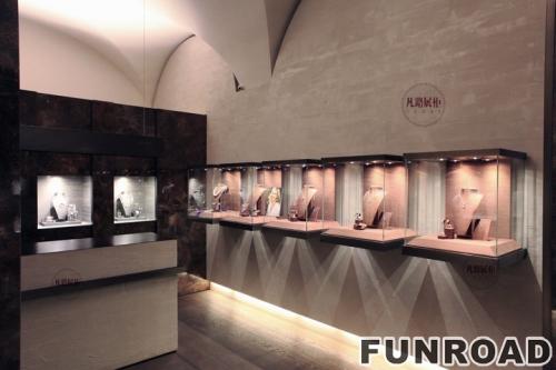 珠宝店壁柜展示柜台制作案例