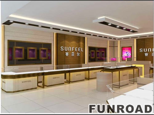 惠州赛菲尔珠宝展柜设计效果图