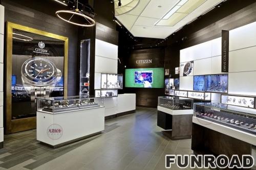 精品定做手表不锈钢展示柜整店设计效果图