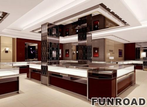 商场蒂爵珠宝展示亭整店设计案例