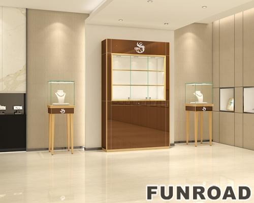 玻璃展柜珠宝背柜设计制作效果图