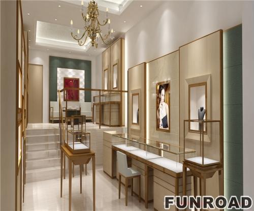 北美风格珠宝展示柜设计制作效果图