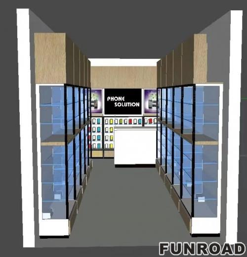 手机店不锈钢展柜、货架、展示台定制