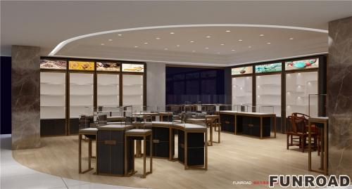 西藏缘石、玉器、珠宝首饰店展柜设计制作