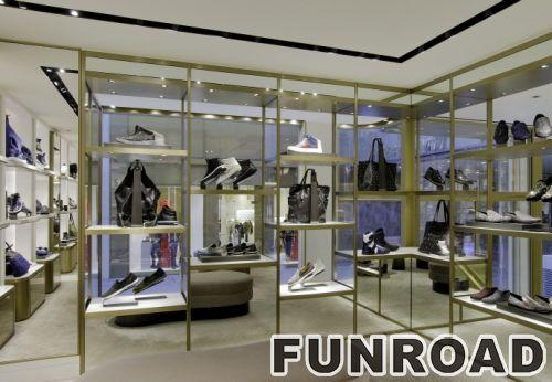 手提包零售展示柜购物中心的中岛柜