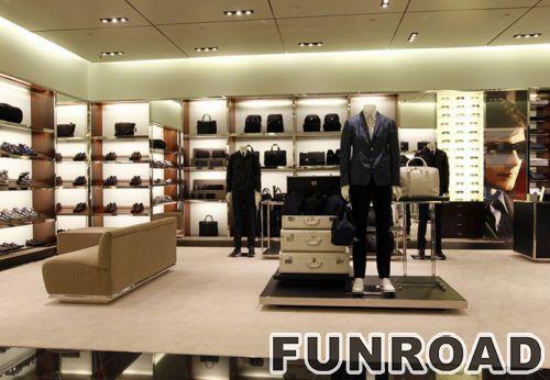高端服装展示柜服装店展示架木质手提包展示柜Prada手袋专卖店展示柜