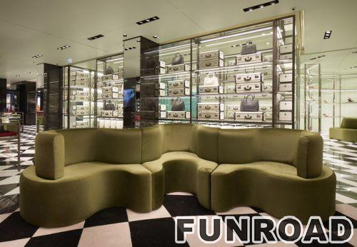 时尚包包商店展示柜女士Prada手袋展示零售展示柜