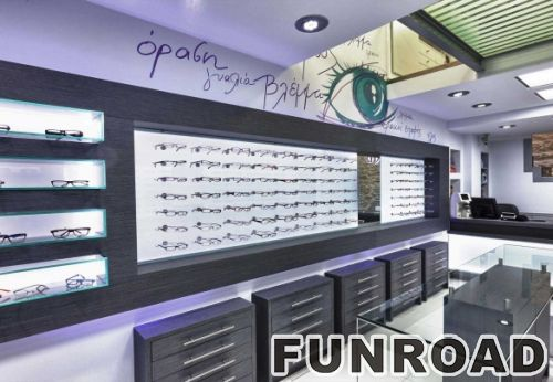 douloufakis optical store shop furniture garment display modern