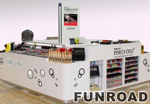 OEM丙烯Mac化妆品显示器展柜设计效果图