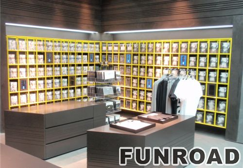 定制高档服装店木质烤漆展示柜展示架