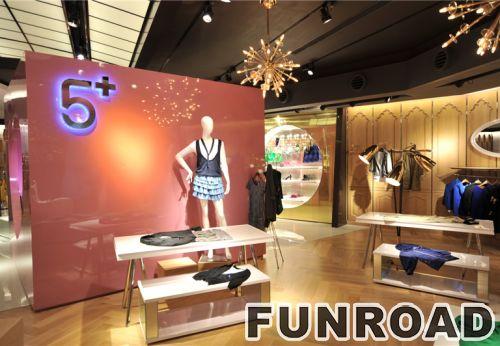时尚服装店木制零售展示柜台