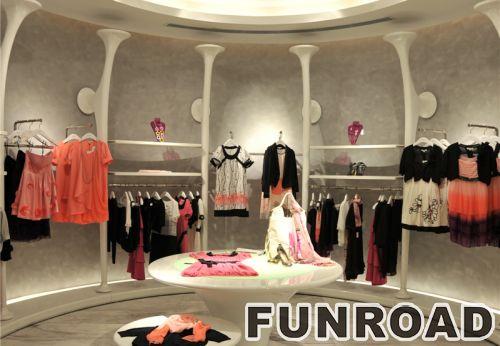 品牌服装零售店的高端室内装饰设计展示架展示柜设计