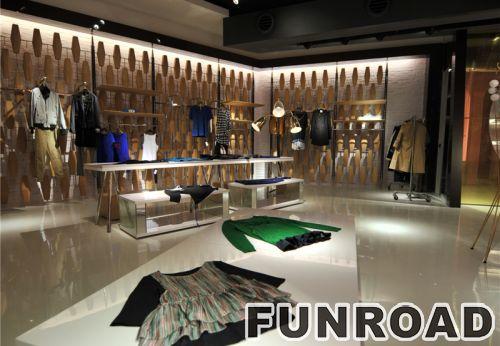 购物中心品牌服装时尚简约的零售展示台