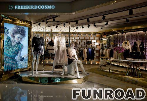 高端服装品牌店装饰设计和零售展示架设计