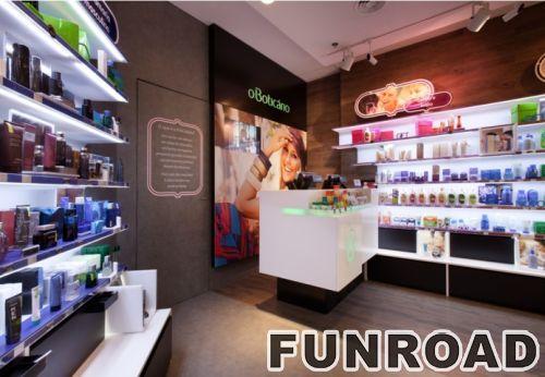 现代木质化妆品展柜和陈列柜