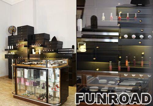 黑色木质光面化妆台展柜