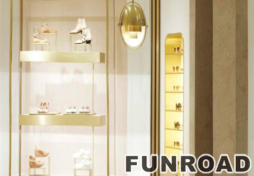 尼斯设计旋转架挂镜运动鞋架展示柜