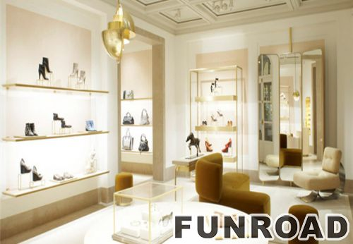 New Design Shoe Display Showcase, Glass Shoe Cabinet, Shoes Shop Interior  Design With Led Lights