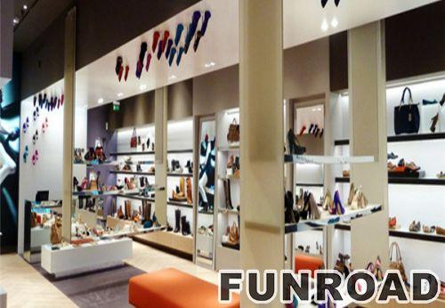 现代包包和鞋店展示柜定制包包展示柜