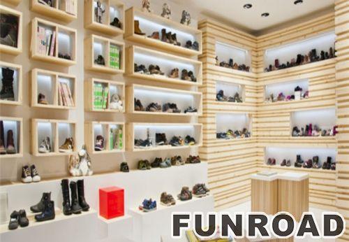 定制促销纸板鞋展示柜